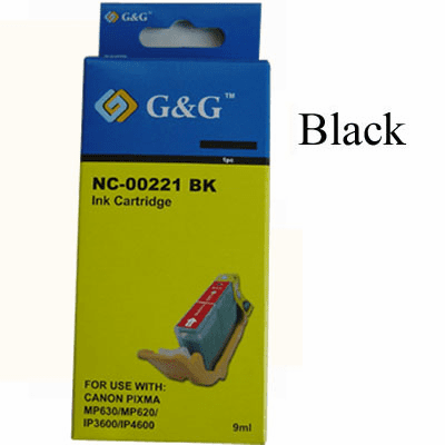 Premium Canon CLI-221BK Compatible Cartridge - Black, No CHIP