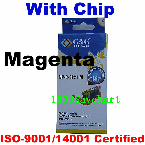 Premium Canon CLI-221M Compatible Cartridge - Magenta, with CHIP