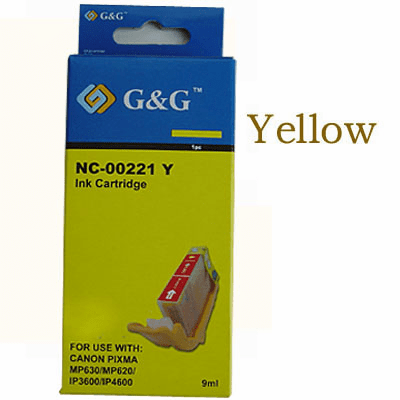 Premium Canon CLI-221Y Compatible Cartridge - Yellow, No CHIP