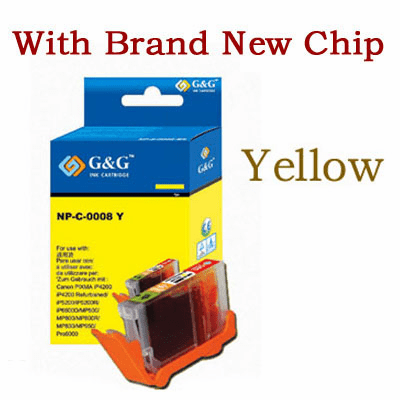 Premium Canon CLI-8Y Compatible Cartridge - Yellow, with CHIP
