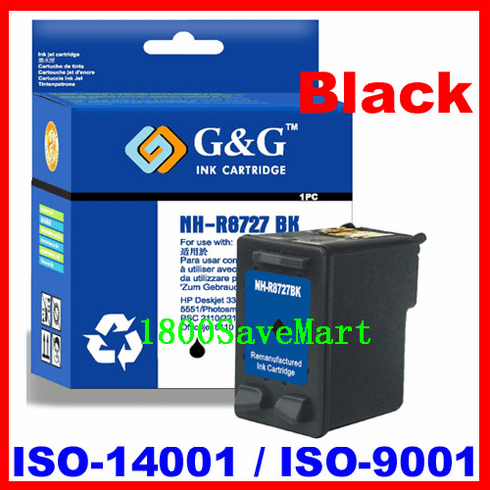 Remanufactured Ink Cartridge For HP C8727A C8727 HP #27 HP 27-BLACK