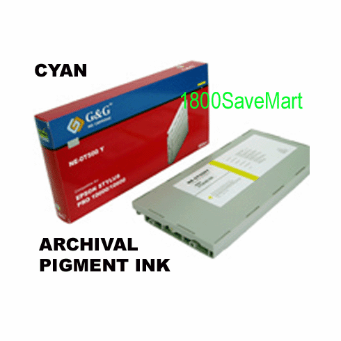T514201 Ink Cartridge For Epson Pro 10000 10600 -  Pigment Ink, CYAN