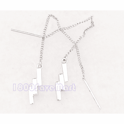 Tiered 3-Stick Sterling Silver Threader Earrings EY94