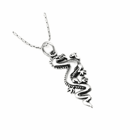 Unique DRAGON Sterling Silver Shiny Pendant-PJ213