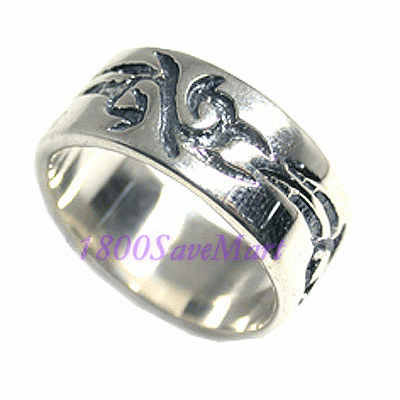 Unique Gothic Design Band Sterling Silver Ring-7 RJ239