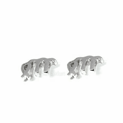 Virgo Zodiac Sign Sterling Silver Earring EJAC
