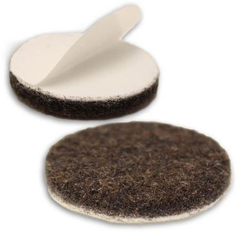 Expanded 1-1/4 inch, 100/pkg, Heavy Duty Felt Furniture Pads