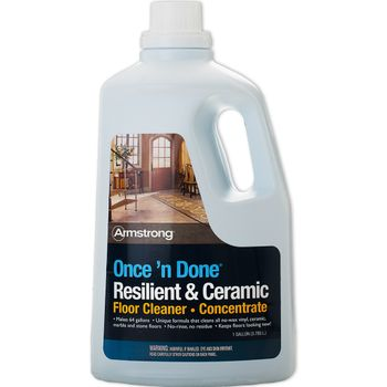 Armstrong Once 'n Done No-Rinse Floor CLEANER CONCENTRATE, 128-oz
