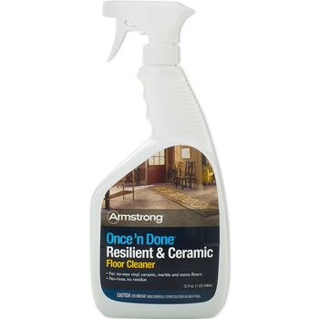 Armstrong Once 'n Done Resilient & Ceramic Floor Cleaner, 32 oz Spray (S-309)