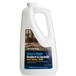 Armstrong Once 'n Done Resilient & Ceramic Floor Cleaner Refill, 64 oz (S-337)