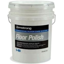 Armstrong S-480 Commercial Acrylic Floor Polish - 5 Gallon