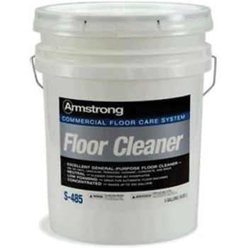 Armstrong S-485 Commercial Neutral No-Rinse Floor Cleaner, 5-Gallon