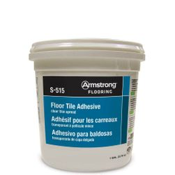 Armstrong S-515 Clear, Thin-Spread Adhesive - 4 Gal Pail