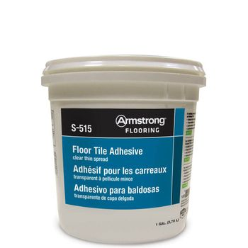 Armstrong S-515 Clear, Thin-Spread Adhesive - 1 Gal