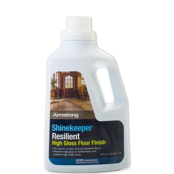 Armstrong SHINEKEEPER Resilient Floor Finish, 64-oz - REPLACES PATTERN PLUS SHINE