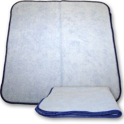 "Blue Microfiber Wipe Cloth - 16"" x 16"""