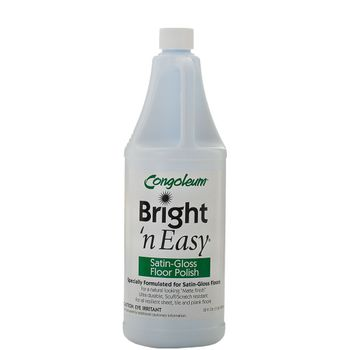 Congoleum Bright 'n Easy Satin-Gloss Floor Polish (matte), 32oz