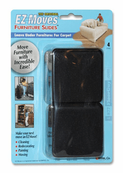 "EZ Moves 3"" Square Permanent Slides, BLACK (set of 4)"