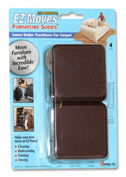 "EZ Moves 3"" Square Permanent Slides, DARK BROWN (set of 4)"