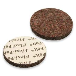 "FlexiFelt 1"" Round Felt Furniture Pads, Dark - 16 pack"