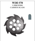 Groover Carbide Blade - 3.5MM Wide