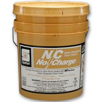 Spartan NO CHARGE NON-STATIC NO RINSE CLEANER 401405, 5 Gallon