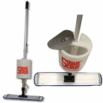 Square Scrub Finishing Mop-Bucket on a Stick, 24-inch