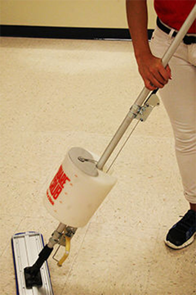 Floor Finishing Applicator Mop Bucket On Stick Square Scrub
