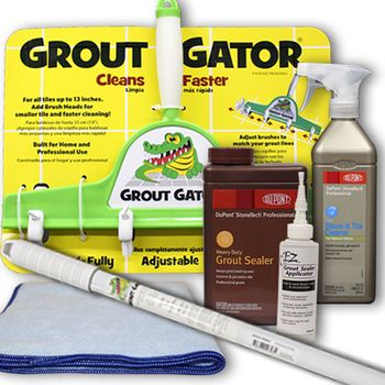 Grout Gator Tile Grout Kit- Deep Clean & Seal