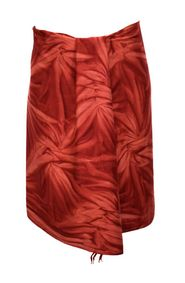 1 World Sarongs Mens Sarong Wrap Men's Maroon Smoked Sarong