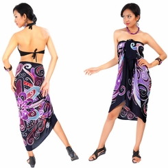 Abstract Graphic Design Sarong in Lavender