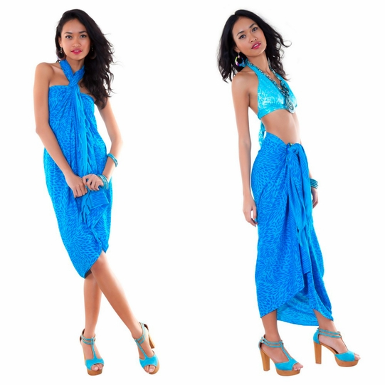 Abstract Sarong in Turquoise