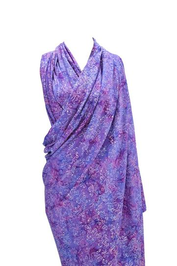 Rich Lavender Purple Abstract Top Quality Plus Size Sarong - Fringeless Sarong