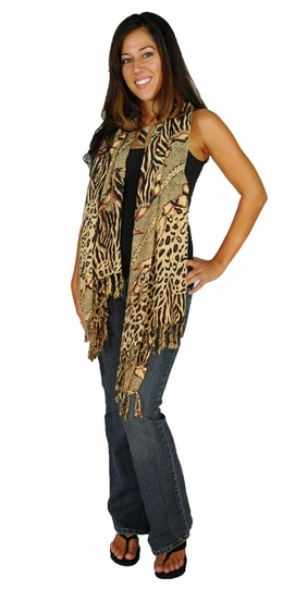 Animal Print Motif Plus Size Neck Scarf, Wrap or Shawl - in your choice of print