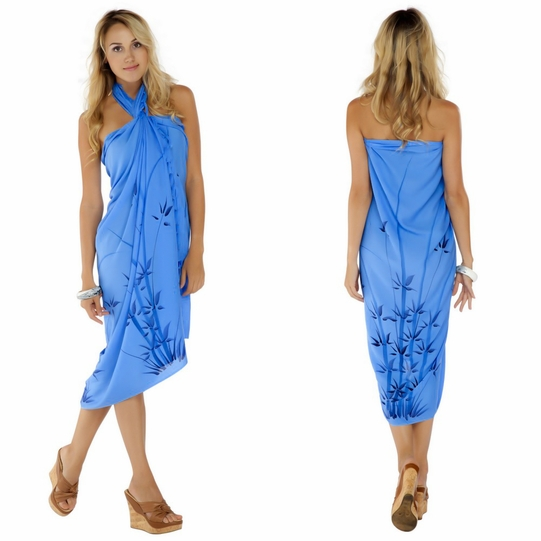 "Bamboo Sarong ""Light Blue"""