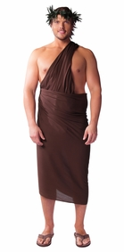 """Brown"" Solid Mens Sarong PLUS SIZE - Fringeless Sarong"