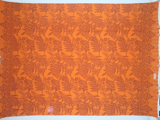 Butterfly Floral Sarong in Orange