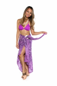Butterfly Sarong in Purple FRINGELESS