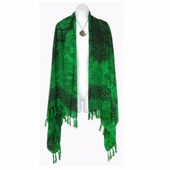 Celtic Cross Extra Wide Neck Scarf, Wrap or Shawl - in your choice of colors