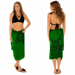 Celtic Sarong Celtic Cross 1 Emerald Green - Call to Order