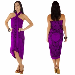 "Celtic Sarong ""Celtic Cross 1"" Royal Purple"