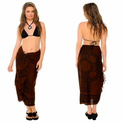 Celtic Sarong Celtic Cross 2 - Deep Brown