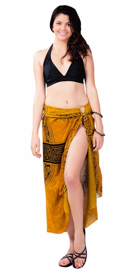 Celtic Sarong Celtic Cross 3 - Gold