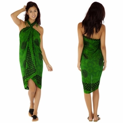 "Celtic Sarong ""Interlace Knotwork"" Emerald Green"
