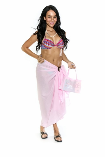 Cotton Sarong in Light Pink with Free Sarong Bag