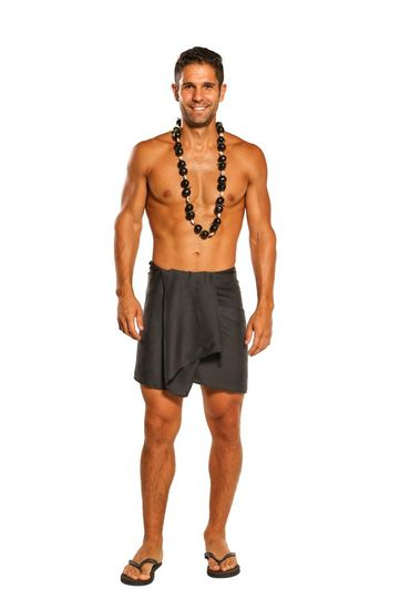 Dark Grey Half Mens Sarong