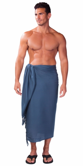 Dark Grey Mens Sarong