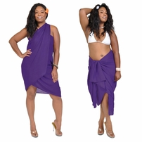"""Dark Purple"" Solid Sarong PLUS SIZE - Fringeless Sarong"