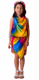 Diamond Rainbow Tie Dye Kid Sarong