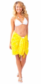 Dragonfly Half Sarong/Mini Sarong in Yellow
